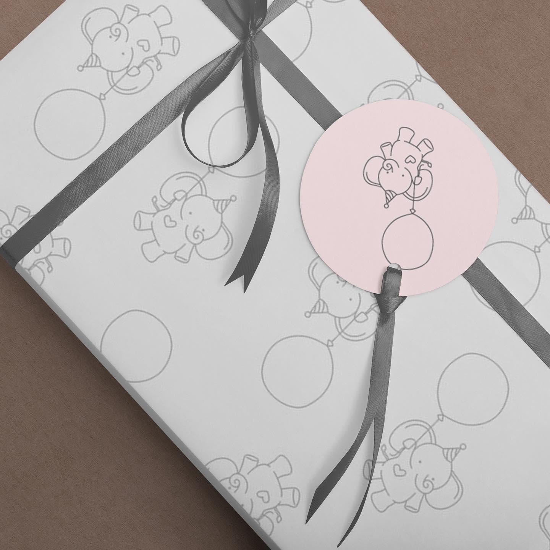 Grafisk design gavepapir
