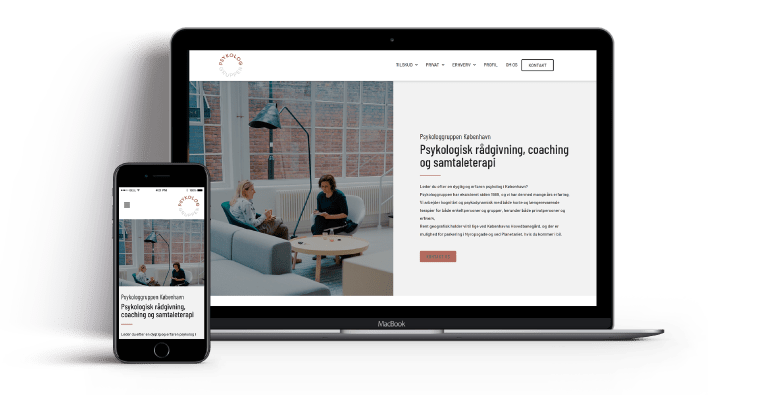 wordpress webdesign Psykologgruppen