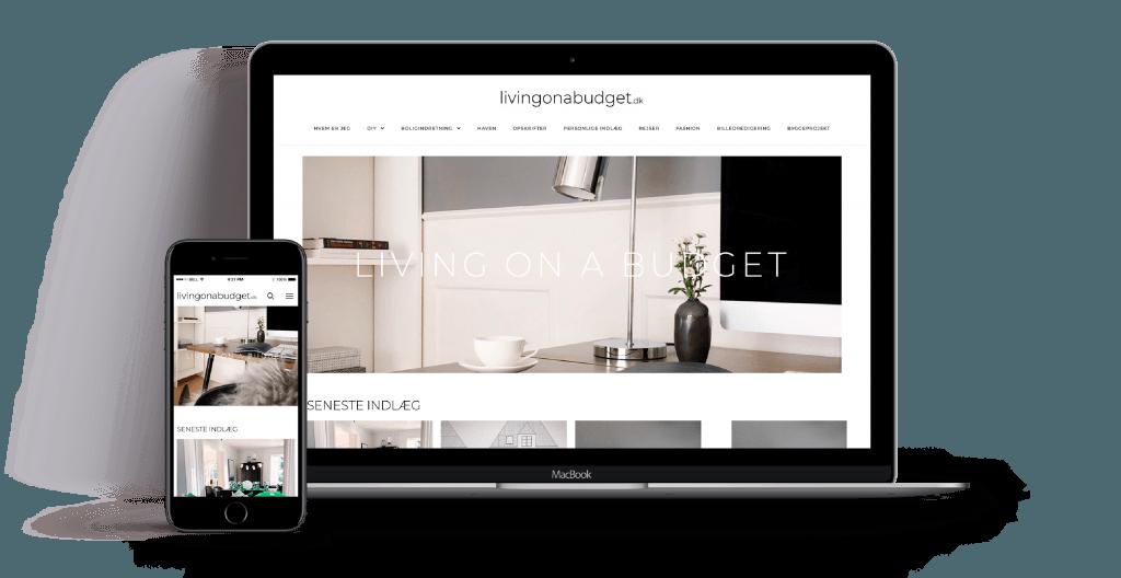 Livingonabudget webdesign
