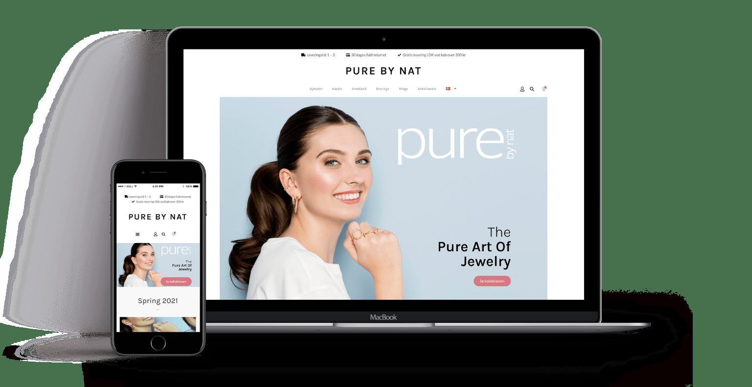 webdeisgn wordpress pure-by-nat