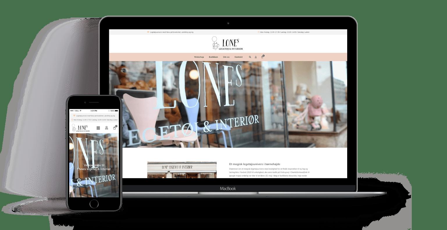 webdesign lones-legetoej