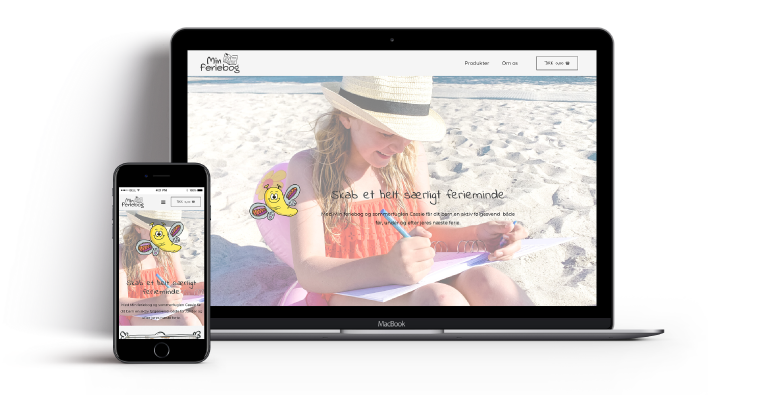webdesign min feriebog