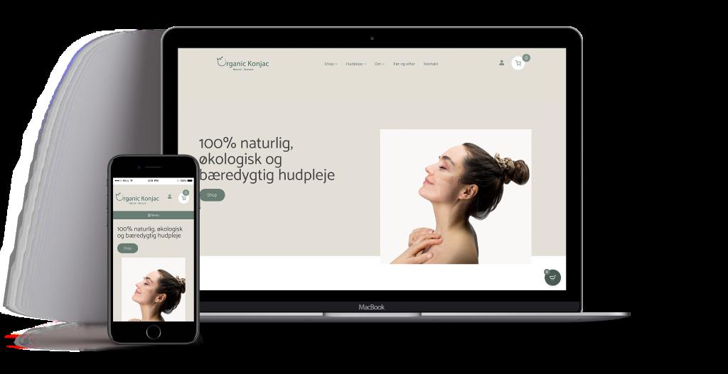 wordpress webdesign OrganicKonjac
